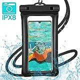 Ossky Pochette Étanche Smartphone Certifiée IPX8, Housse télephone étanche Universel Touch Sensible pour iPhone, Samsung, Huawei, Sony, HTC, Wiko, Lecteurs MP4 / 3 (6.5 Pouces)
