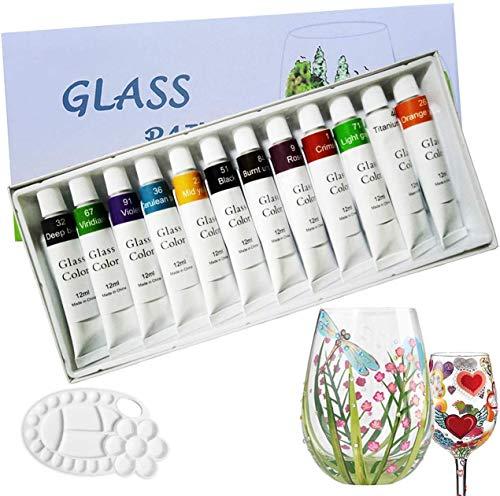 12 colores pinturas de vidrio ,pintura no tóxica de calidad profesional para...