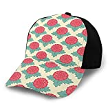 Photo de Fashion Floral Lively Carnations Flourishing Summer Meadow Vivid Stylized Reseda Green Dark Coral Light Pink Plain Adjustable Baseball Cap Unisex Hat Sun Cap par