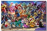 Puzzle 1000 piezas Pintura decorativa mural de dibujos animados de Super Smash Bros Puzzle adulto de 1000 piezas Rompecabezas clásico kit de bricolaje juguetes de madera regal50x75cm(20x30inch)