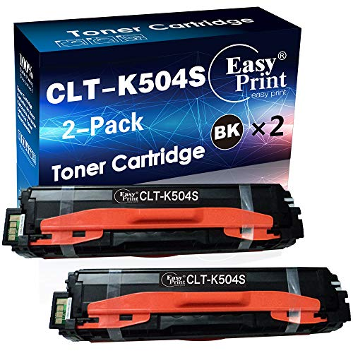 EasyPrint Compatible Toner Cartridge Replacement for Samsung CLT-K504S CLT504S 504S CLT-504S Used for Xpress C1810W C1860FW CLP-415N CLP-415NW CLX-4195FW Printer (2-Pack, Black)