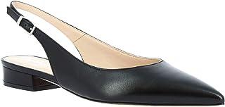 Leonardo Shoes Ballerine a Punta Slingback da Donna Fatte a Mano in Pelle Nera - Codice Modello: 138 Nappa Nero