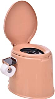 ZJY Portable urina Heightening Thickening Adult Removable Toilet Pregnant Women Toilet Portable Squatting Urine Bucket Urinal Urinal Chair Urinals (Color : Coffee 1)