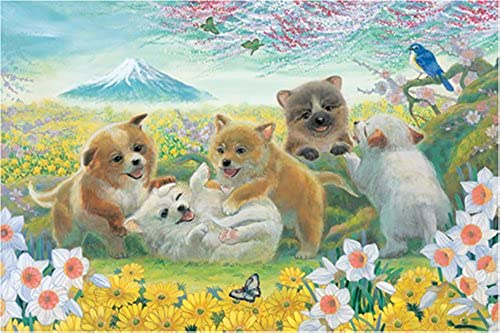 [1000 pieces] Good Fortune Dogs Jigsaw Puzzle (75 x 50 cm) Japan (japan import)