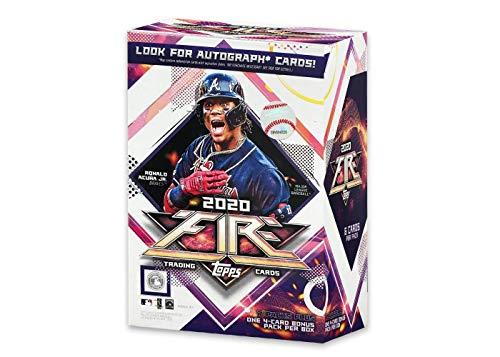 2020 Topps Fire Baseball Blaster Box 7 - Packs Plus Bonus Pack 46 Total Trading Cards