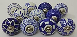 blue and white knobs
