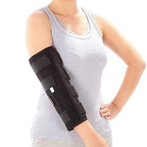 zhangchao Elbow Brace Splint Protezione per Immobilizzatore per Frattura del Gomito per Tunnel Cubitale, Nervo Ulnare, Lesioni, Manicotto di Sostegno Stabilizzatore Notturno PM,M