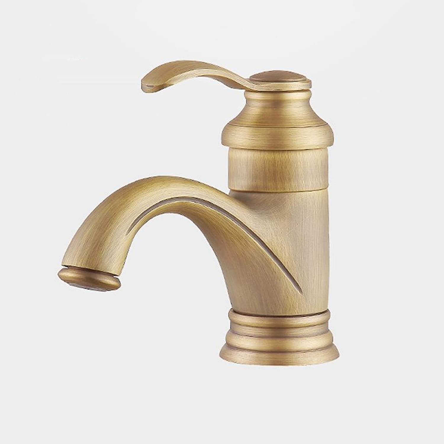 Neilyn Bathroom Basin Waterfall Mixer Tap Brass Fitting-Hot and Cold Single Handle Monobloc Tap-Monobloc Bathroom Sink Faucet -Brass Digreener for Kitchen -Monobloc Bathroom Sink Faucet ( Size   S )