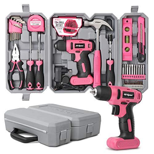 Hi-Spec 57-teiliges Pinkes Heimwerkerset...