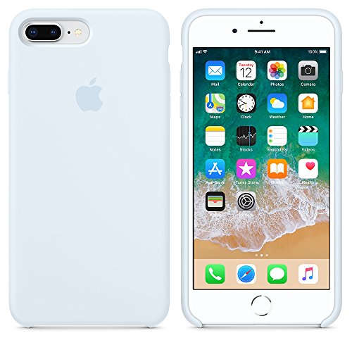 A & W 2018 Estate Ultima Custodia in Silicone per iPhone 7Plus / iPhone 8Plus 5.5inch (2017) (Celeste)