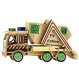 Artibetter Estatuilla de Coche de Madera Modelo Vintage Construcción Camión Ornamento Estatua Escritorio TV Gabinete Decoración para El Hogar Sala de Estar Dormitorio
