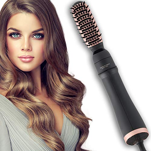 Hot Air Brush, One Step Hair Dryer & Volumizer, 3-in-1 Hair Dryer Brush Styler for Straightening, Curling, Salon Negative Ion Ceramic Blow Dryer Lightweight Curl Hair Brush