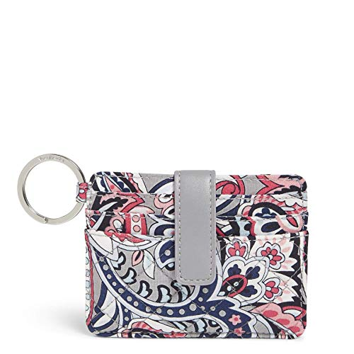Vera Bradley Women's Signature Cotton In a Snap Card Case Wallet, Gramercy Paisley