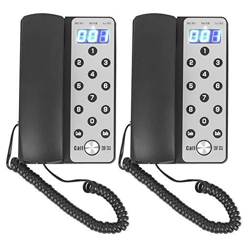 Sistema de intercomunicación inalámbrico en Tiempo Real, Host + extensión Sistema de Llamada de intercomunicador de Voz inalámbrico Interno para el hogar y la Oficina(EU)