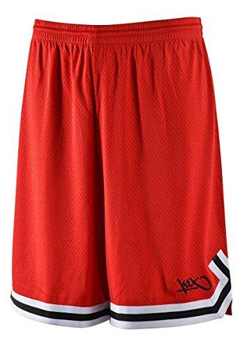 K1X Hardwood Big Mesh Double X Shorts mk2 Basketball rot-schwarz rot-schwarz, M