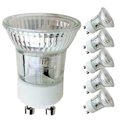 5 x Halogen Reflektor klein GU10 35W MR11 230V flood 30° warmweiß 2700K dimmbar (35 Watt, 5 Stück)
