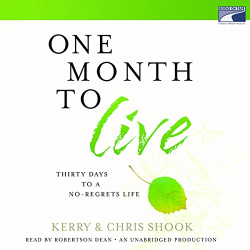 One Month to Live audiobook cover art