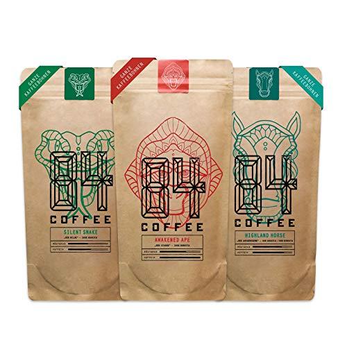 84 Coffee - Probierpaket - Vietnamesischer Espresso & Kaffee - frisch & schonend geröstet - 3x250g in Bohnen