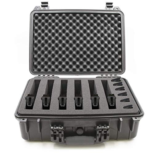 CASEMATIX 18' Customizable 6 Pistol Multiple Pistol Case - Waterproof & Shockproof Hard Gun...