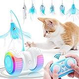 Jionchery Juguete interactivo para gatos para gatos de interior, juguetes electrónicos para gatitos con control remoto automático con USB recargable