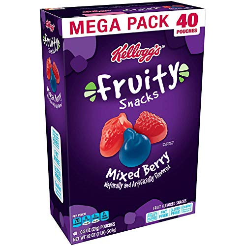 Fruity Snacks, Mixed Berry, Gluten Free, Fat Free, 32 Oz (40 Pouches)