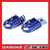 Estriberas Reposapies Evo GAS GAS EC 250 300 10-19 SCAR - Azul
