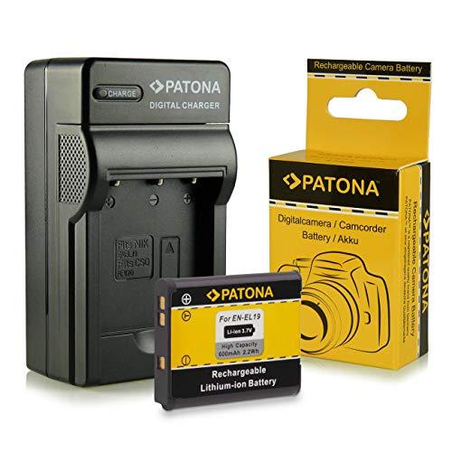 Caricabatteria + Batteria EN-EL19 per Nikon Coolpix S100  ...