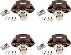 Set van 4 zink legering drukknop luik kast slot knop voor kabinet/RV/boot (Pearl Nickel)
