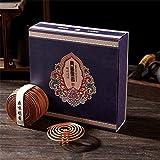 Gandhanra Incienso en espiral natural,variedad de 4 paquetes de madera de agar,sándalo,osmanto,jazmín,paquete de regalo con quemador gratuito, e larga duración para relajarse,meditar,refrescar