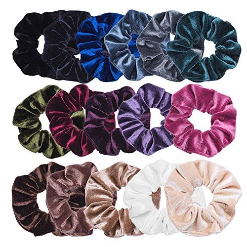 Sinwind 16 Chouchous Bandeaux bandes velours cheveux élastique bandes de cheveux filles pour Scrunchie femmes ou accessoires pour les cheveux des filles