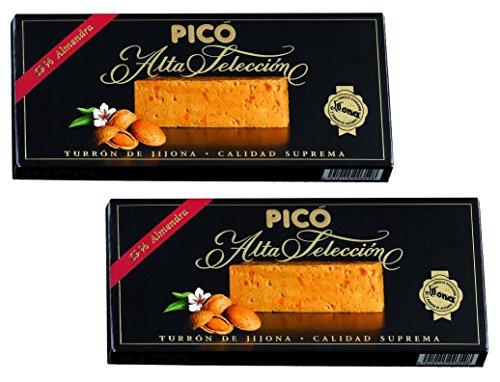 Picó - Il pacchetto include 2 Turron de Jijona - Torrone morbido scatola nera - 200gr Qualità suprema