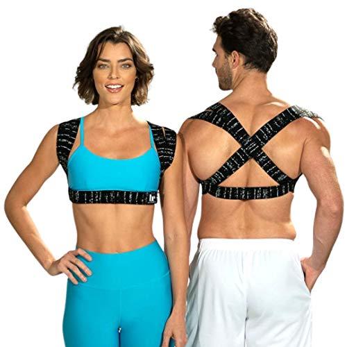 BackEmbrace Back Support Posture Corrector for Women & Men - Made in USA, Slim & Adjustable Shoulder Brace/Back Brace for Back Pain Relief, Alleviates Tech Neck & provides Neck Pain Relief (XS/S)