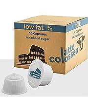 Caffè Colosseo - Magere Melk - 50 Dolce Gusto Compatibel Cups (50 Cups, 50 Porties, Melk met laag vetgehalte, zonder toegevoegde suikers)