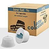 Latte Colosseo - 50 Cápsulas Compatibles Dolce Gusto (Leche Desnatada, 50 Cápsulas, 50 Porciones)