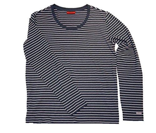 Hugo T-Shirt à Manches Longues dagobah Couleur Bleu 415 - Bleu -