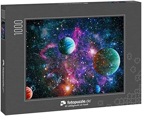 fotopuzzle.de Puzzle 1000 Teile Planet im Weltraum mit Sonnenblitz. Elemente Dieses Bildes Werden von der NASA zur Verfügung gestellt