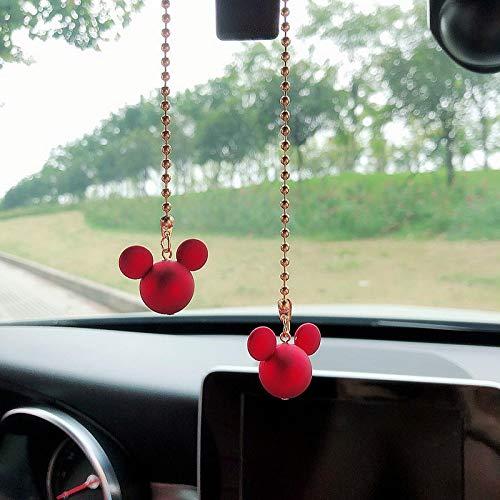 WWWL Coche colgante de la Decoración del Interior del Coche Colgante Lindo Mickey Mouse Espejo Retrovisor Colgante Decoración Para los Artículos del Coche Accesorios del Interior del Coche aspicture