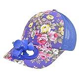 SomeTeam Sommer Outdoor-Solar-Sonnenenergie -Hut-Kappe, Summer Fan Cooling Baseball Cap Hat USB Charging Breathable Shade Sunscreen Hat