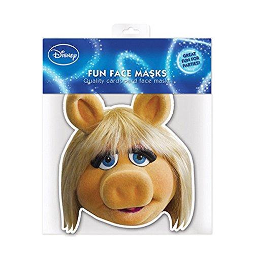 Star Cutouts Ltd SM59 Miss Piggy De Muppets Enkele Gezicht Masker Perfect voor Feesten Maak Plezier Pratend Punt, Multi kleuren