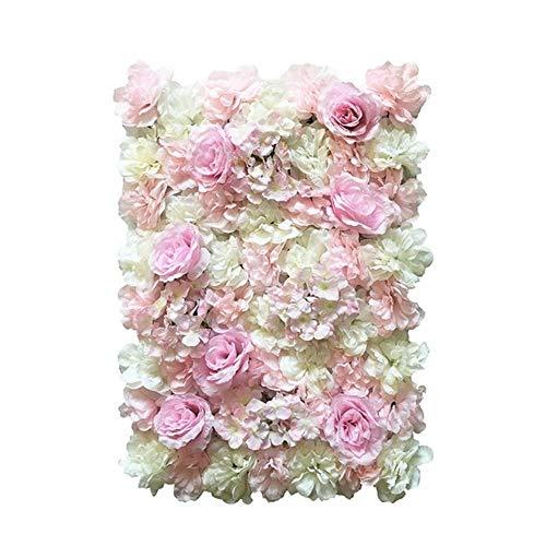 40x60cm zijde roos bloem champagne roze kunstbloem voor bruiloft decoratie bloem muur romantische bruiloft achtergrond versieren, 16 (nieuwe kleur), 40x60cm