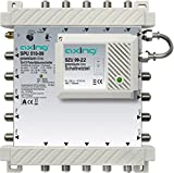 Axing SPU 510-09 SAT-Multischalter 10 Teilnehmer Premium-Line erweiterbar aktiv Quad-tauglich energiesparend (5 x 10) -