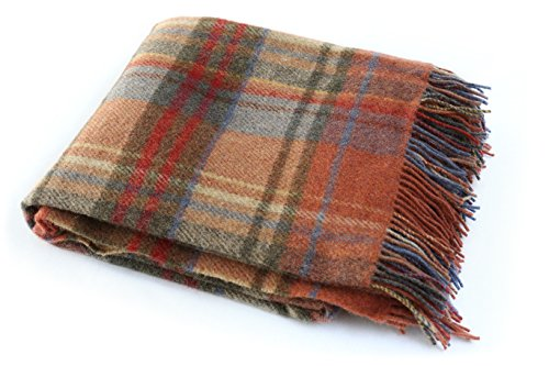Biddy Murphy Irish Throw Blanket Made in Ireland Wool Throw Blanket 100% New Irish Wool Irish Blanket 54' x 72' Made in Co. Tipperary by John Hanly & Co.
