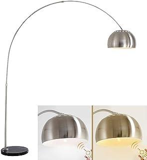LANMOU Lampadaire Arc Moderne, 12W Arc Lampe de Sol Dimmable avec Télécommande Lampe à Pied Hauteur Réglable Moderne en Mé...