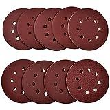 papasbox Disco de Lija,Discos de Pulir 125 mm Grano Cada 12 x 60/80/120/180/240/320/400/600/800 para Lijadora orbital,Papel de lija con velcro de,108 unidades