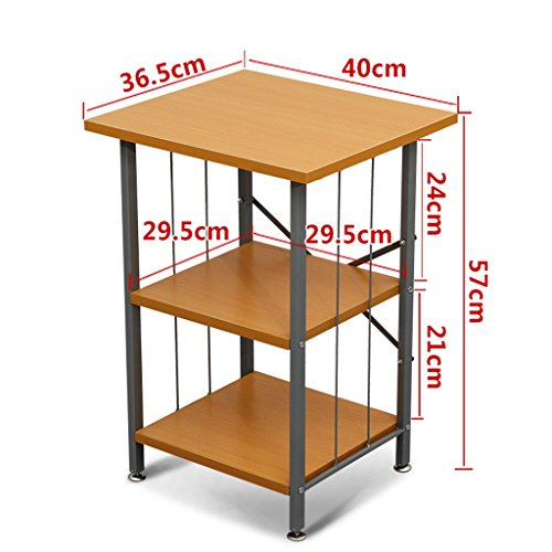 Étagères de stockage polyvalentes, supports d'imprimante, supports de micro-ondes, supports de chambre à coucher de salle de séjour (Couleur : Jaune, taille : 39 * 48 * 57CM)
