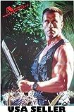 Arnold Schwarzenegger poster 21 x 31 big knife from Predator era (poster sent from USA in PVC pipe)