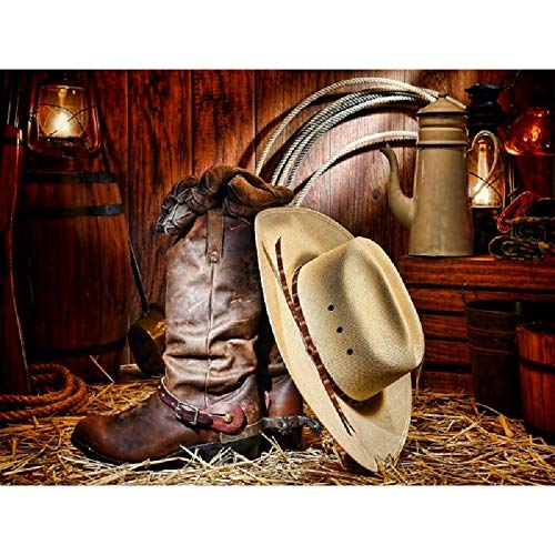 Smoky Mountain Childrens Blaze Stitched Design Rubber Sole Square Toe Brown/Black Western Cowboy Boot,11 M US