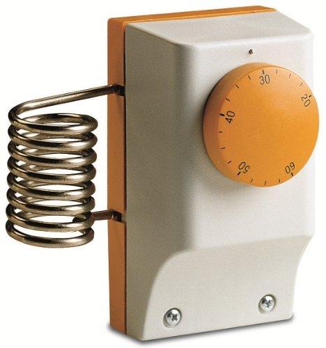 Thermostat für Gewächshaus A Kontakt mechanisch Perry 1tctb090Druckgussgehäuse Sonde Außen-5/+ 35°C Differential Fixed 1,5+/-1°C Skala und Index-1Ebene von Temperatur stufenlos Raumthermostat mit Sensor Spiral