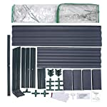 Quictent 49''x37''x36'' Extra-Thick Galvanized Steel Raised Garden Bed Planter Kit Box with Greenhouse 2 Large Zipper… 14 √【Dual Use Raised Bed】Use the raised garden bed and greenhouse together to keep plants warm and growing in winter and spring. Or move the greenhouse to keep other small plants to grow, do as your need. Give you more freedom to use these two parts. √【Extra-thick Reinforced Galvanized Steel】--- 0.5mm thickness galvanized side, 1.0mm galvanized sheet for corner, 11.8inch in height, perfect size with extra-thick steel, stable for using at least 5 years. √【Eco-friendly Galvanized Paint】--- Use eco-friendly galvanized paint, efficiently prevent rust; And with the advanced dark grey, the most popular color, give your garden more beauty. Also never worry about that pest and rain damage the wood garden bed; galvanized steel garden bed provides lasting use and no discoloration.