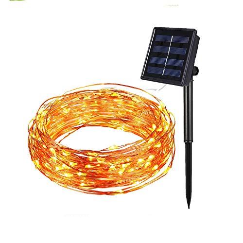 Kerstmis koper draad decoratie lamp, zonne-koper draad lamp, feestelijke sfeer lamp, kleurrijke kleur veranderen LED Tuinlamp